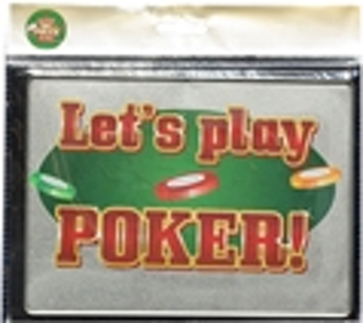 metalen bordje Let's play Poker ! kopen