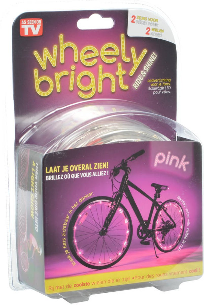 Wheely Bright Roze - 2 Stuks - Fietswielverlichting