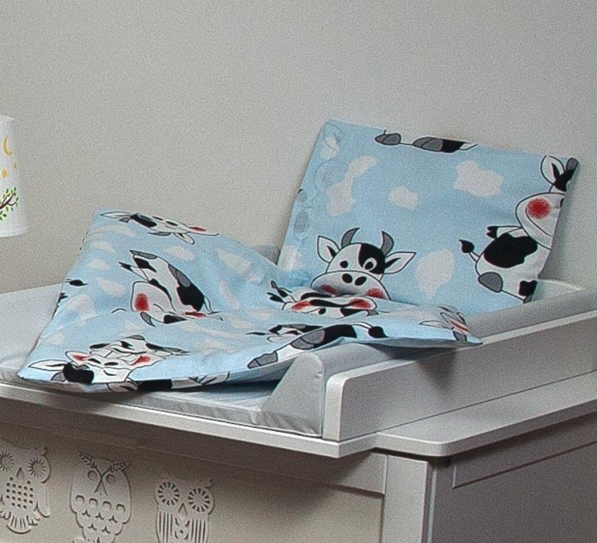 Beddengoed set voor ledikant - dekbed 70x50cm - incl. kussen - koeien kopen