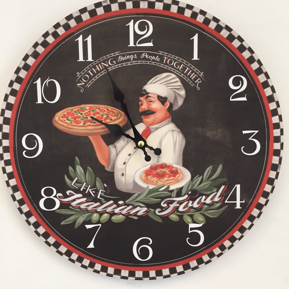 Square Wall Clock of Horse Racing running The Race Size 19cm by 19cm
