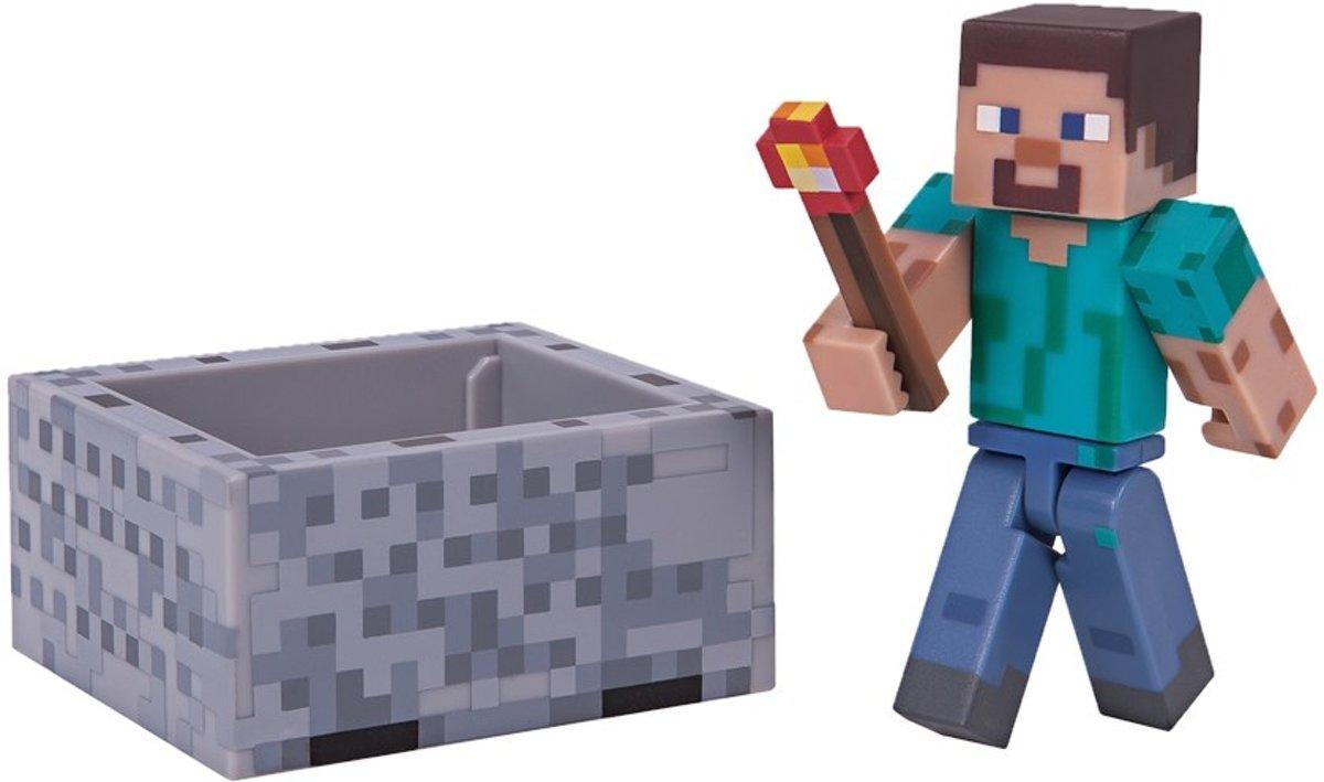 Minecraft Steve Speelgoed actiefiguurtje Volwassenen en kinderen