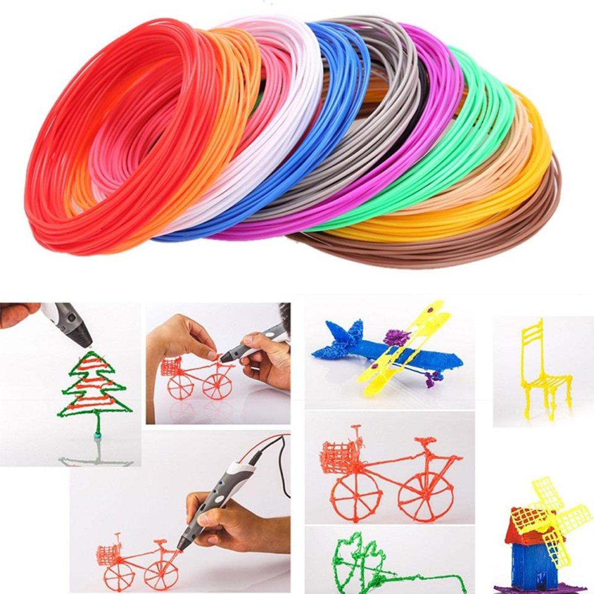 10m PLA Filament voordeel pakket 10 kleuren