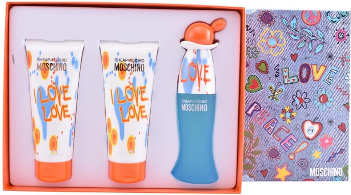 Parfumset voor Dames Cheap And Chic I Love Love Moschino (3 pcs) kopen