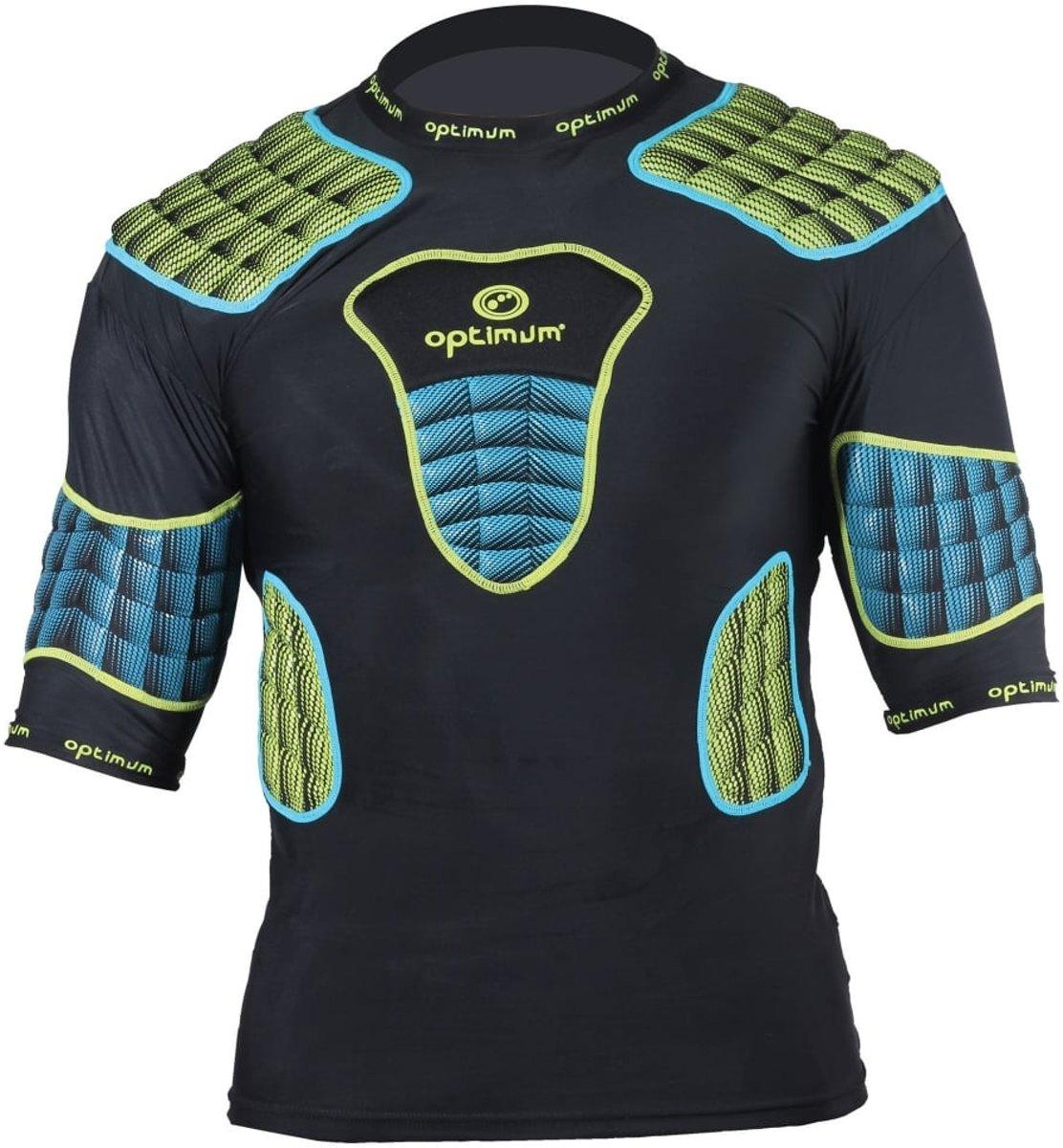 Optimum shoulderpads Atomik blauw / geel - maat S kopen