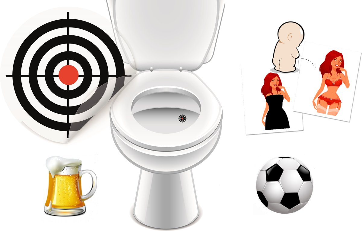Plassticker Set Pappa – 4 Stickers - Toiletsticker - Plasstickers voor mannen kopen