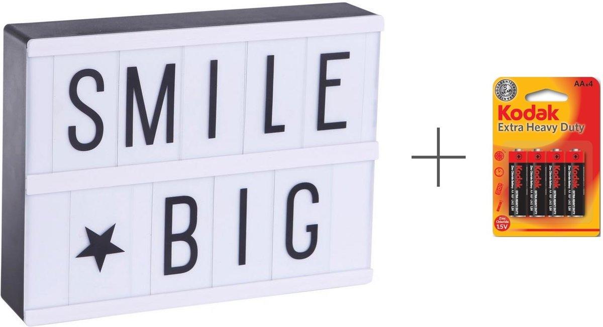 LED Lightbox A5 - Inclusief 60 Letters & Symbolen - Gratis batterijen meegeleverd - 21 x 15 x 4 cm kopen