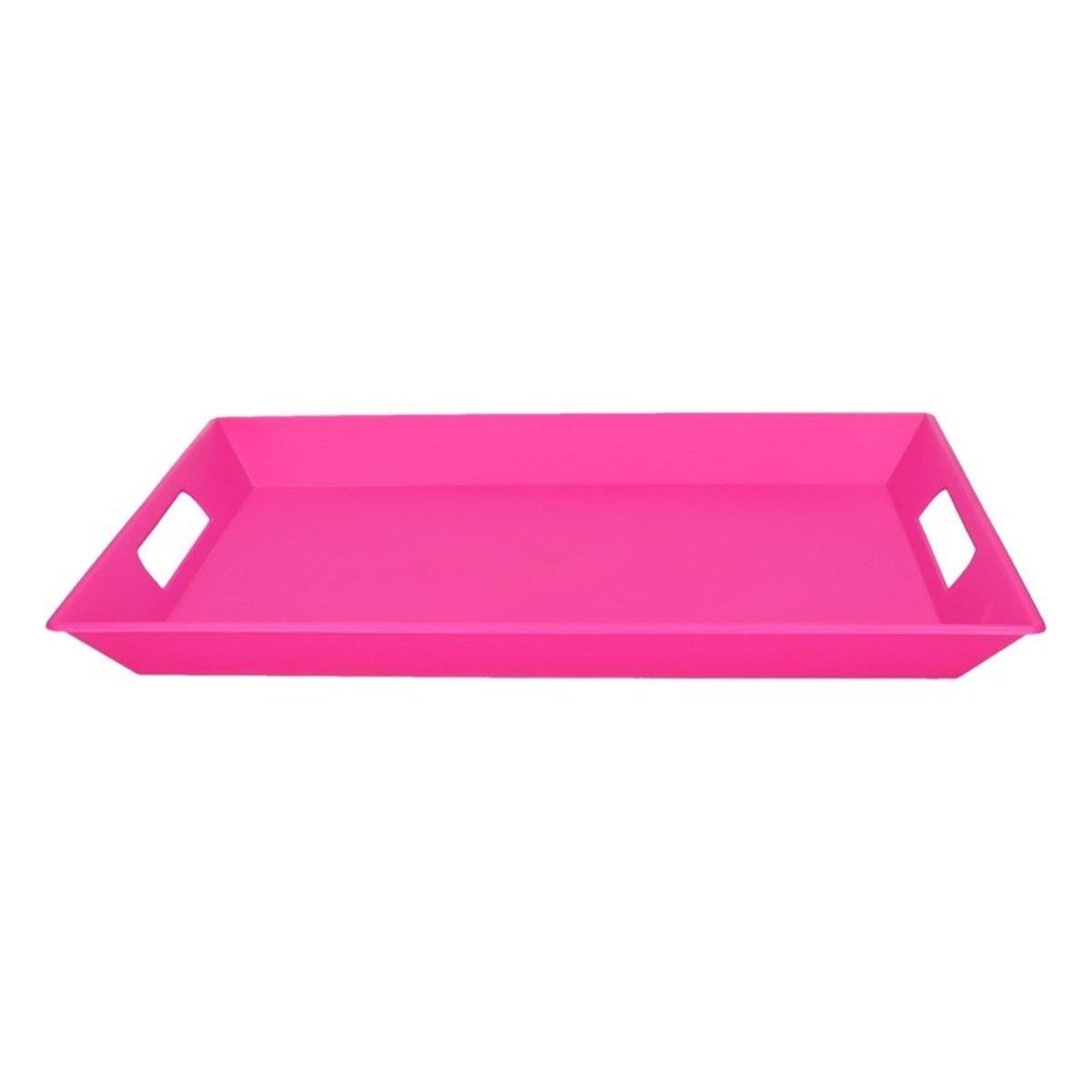 Roze dienblad - 32 x 45 cm - kunststof
