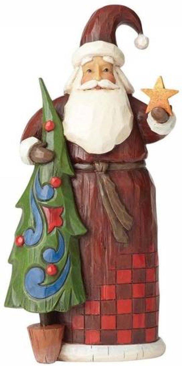 Jim Shore: Folklore Kerstman met Boom Beelden & Figuren kopen