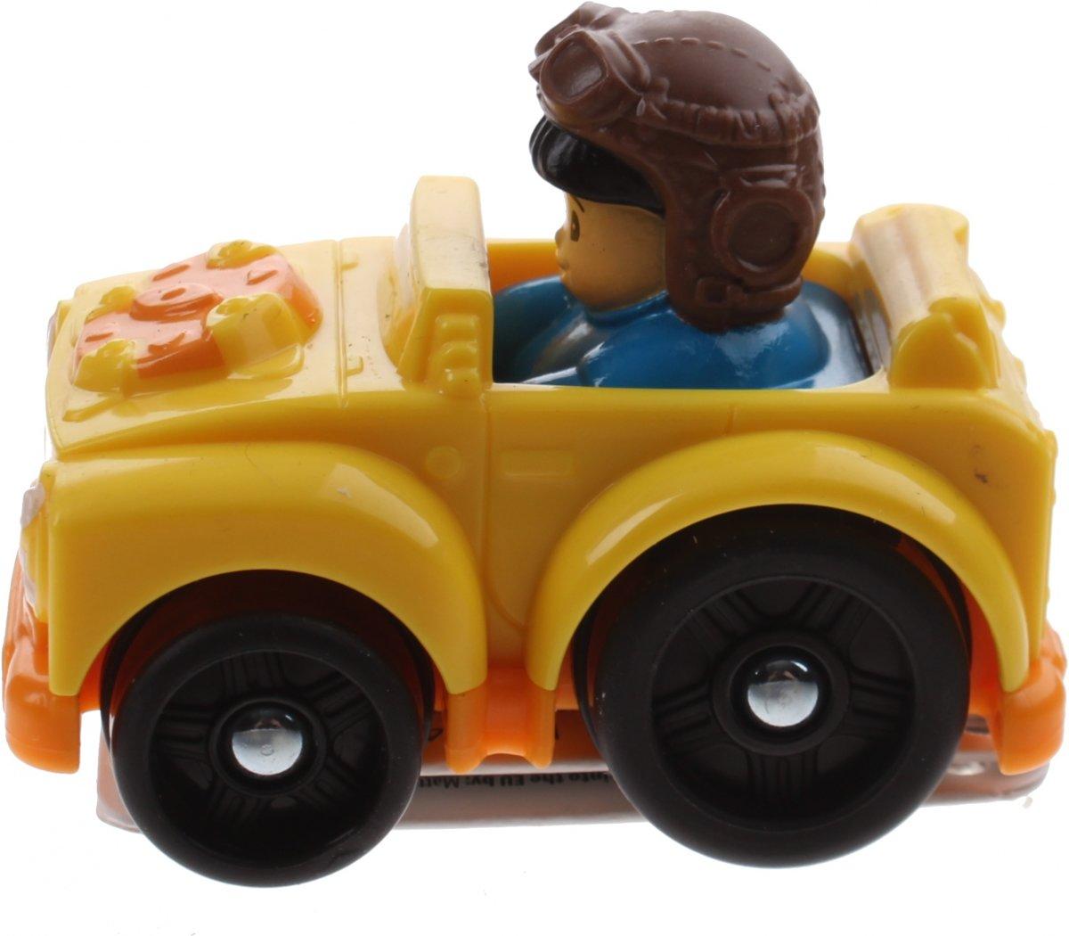 Fisher-price Little People Wheelies Auto 6,5 Cm Geel (bhv04)