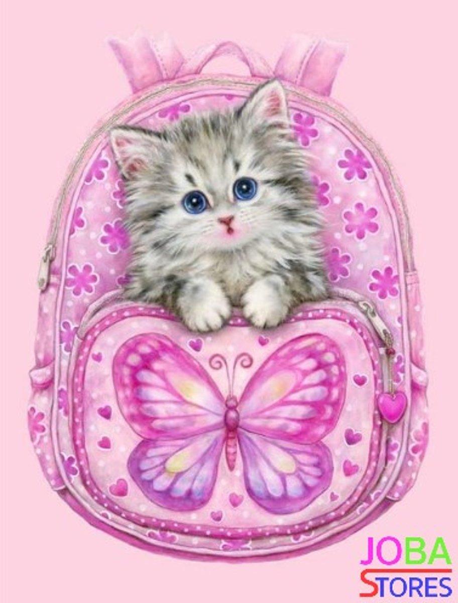 """Diamond Painting """"JobaStores®"""" Tas met kitten - volledig - 30x40cm kopen"""