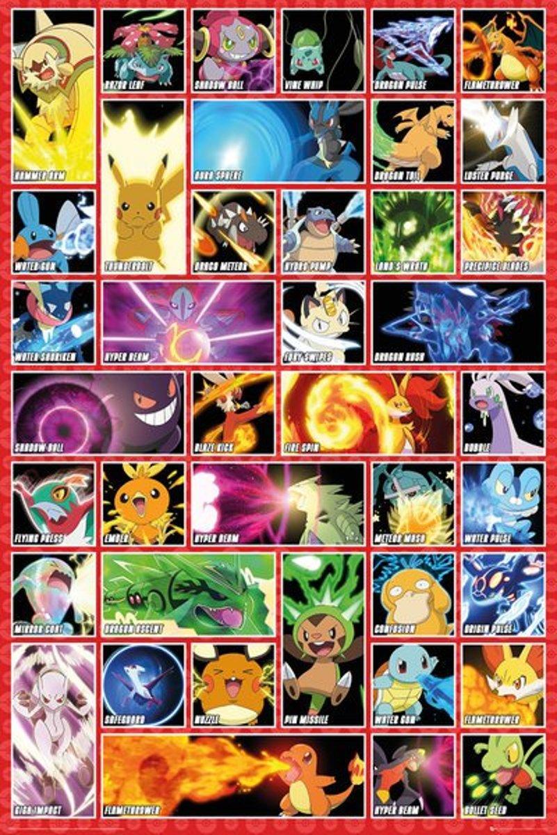 Pok?mon Pokemon Moves - Maxi Poster kopen