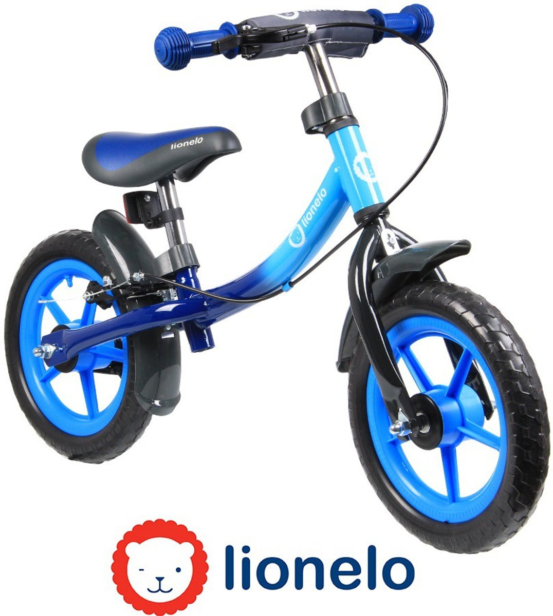 Lionelo Dan Plus - Loopfiets  Blauw de luxe