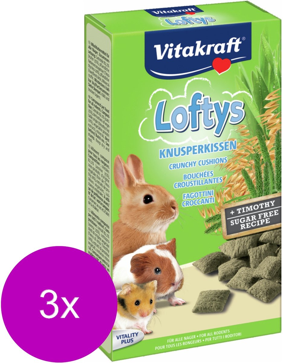Vitakraft Lofty'sKnaagdier - 3 St à 100 gr - Knaagdiersnack