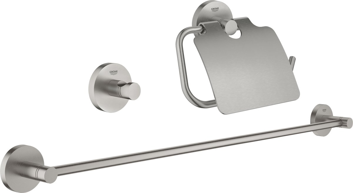 Bol grohe essentials badkamer accessoireset in