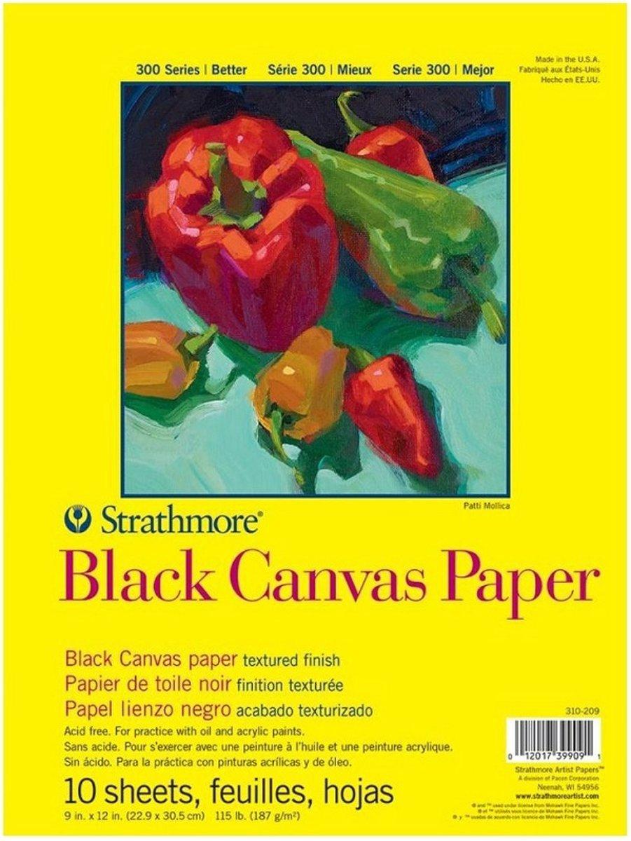 Strathmore black canvas paper 40x50cm kopen