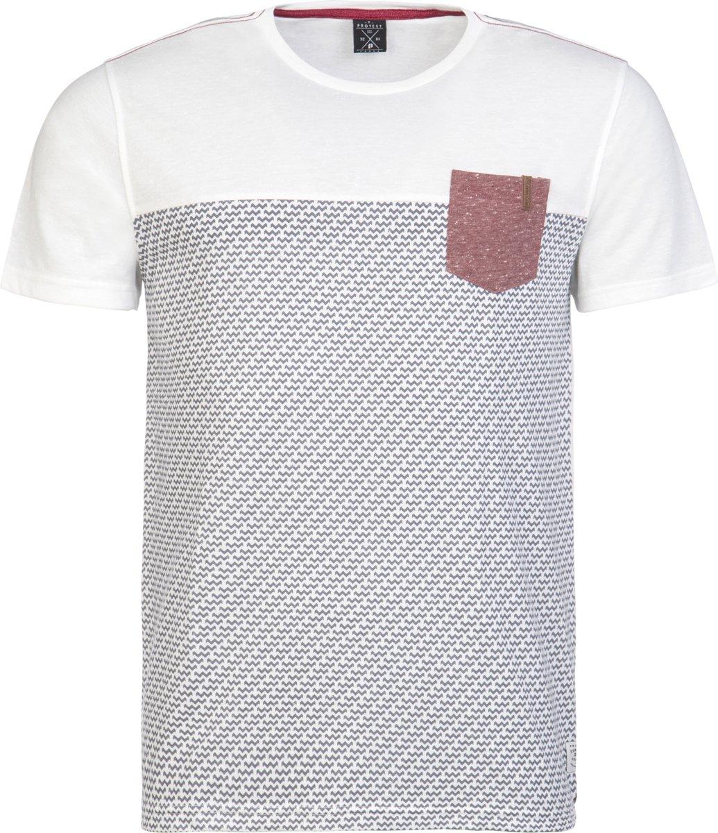 Protest DAMIEN T-Shirt Heren - Seashell - Maat S