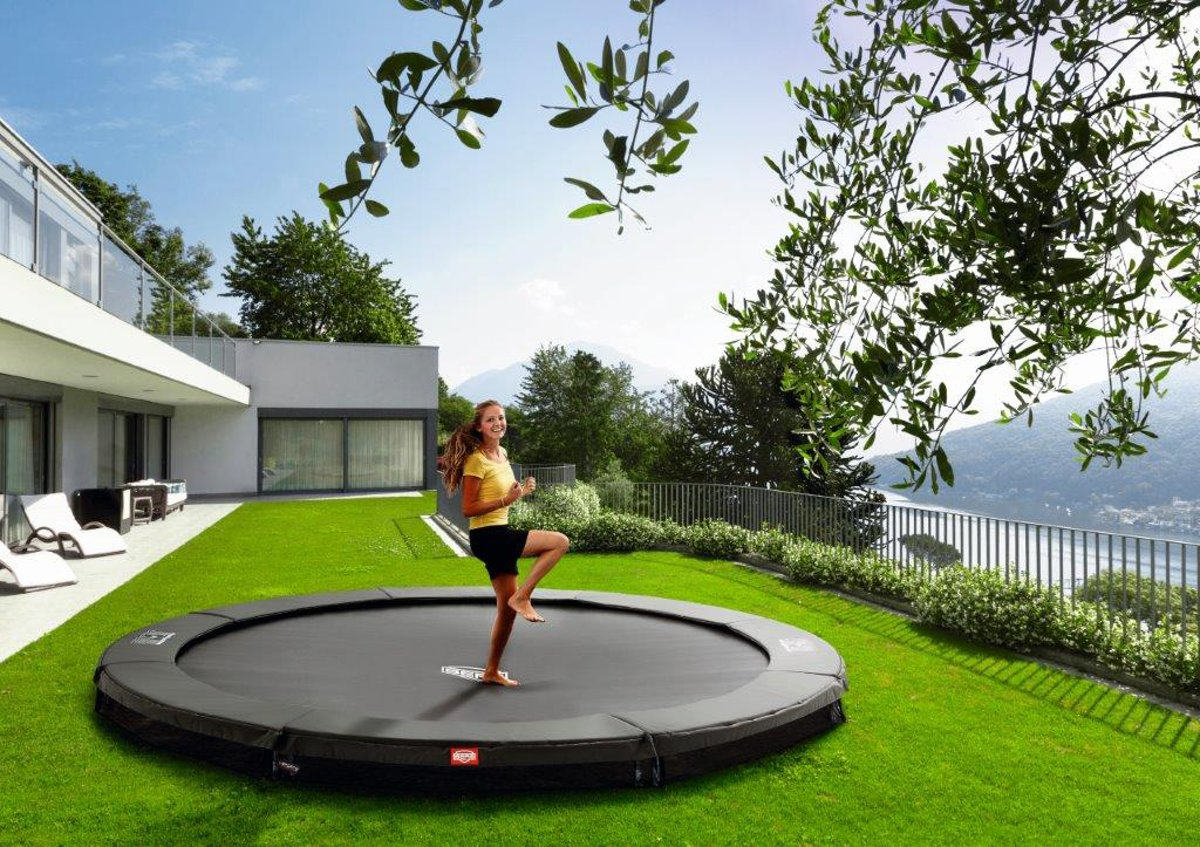 BERG Champion InGround Trampoline - 430 cm - Grijs