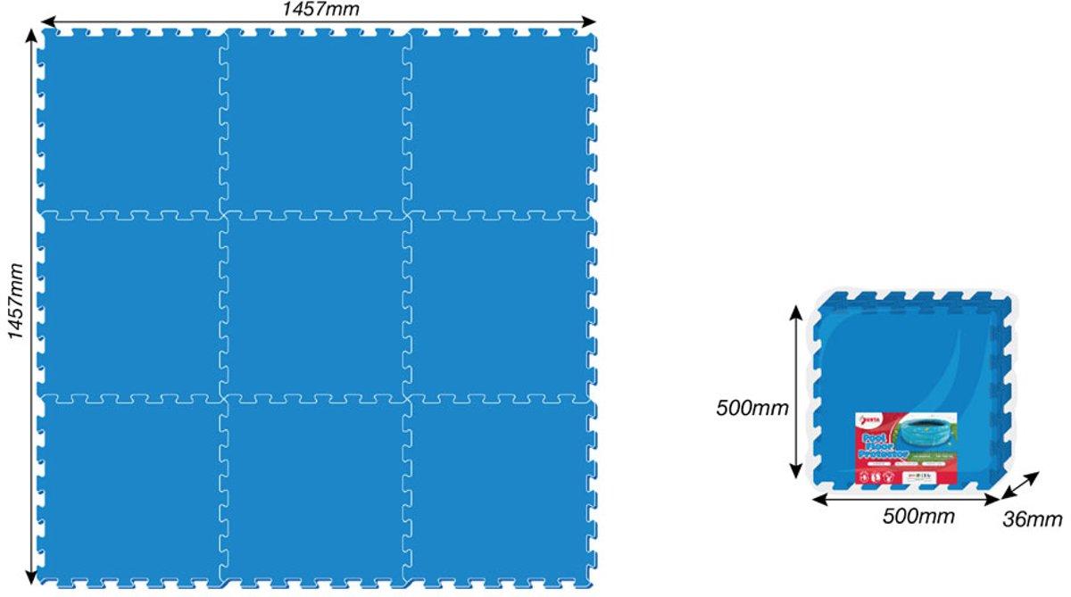 9 stuks zwembadtegels  50 X 50 X 4 MM