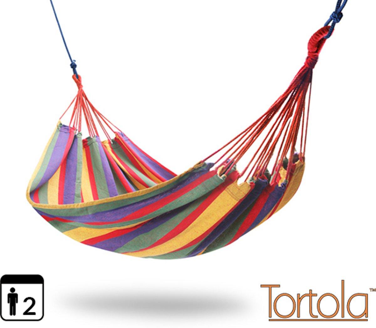"Tortola ""Rainbow"" Extra Brede Hangmat"