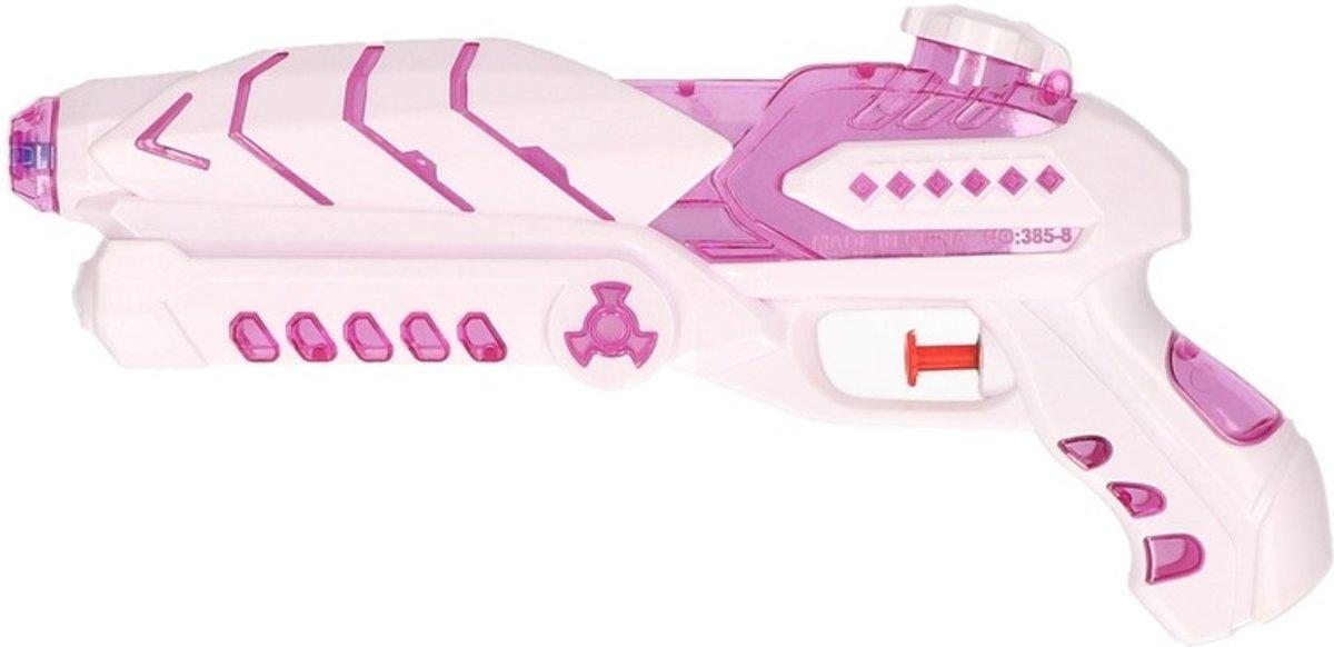 Wit/roze waterpistool 27 cm voor meisjes - Buitenspeelgoed - Waterpistolen