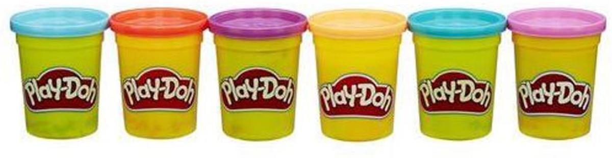 Playdoh 6 pack heldere kleuren