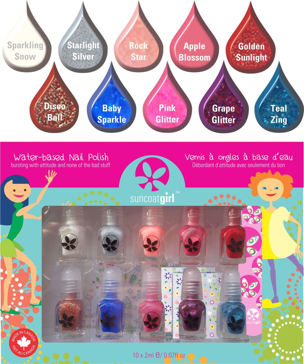 Kindernagellak set met stickertjes en vijl - Flare & Fancy