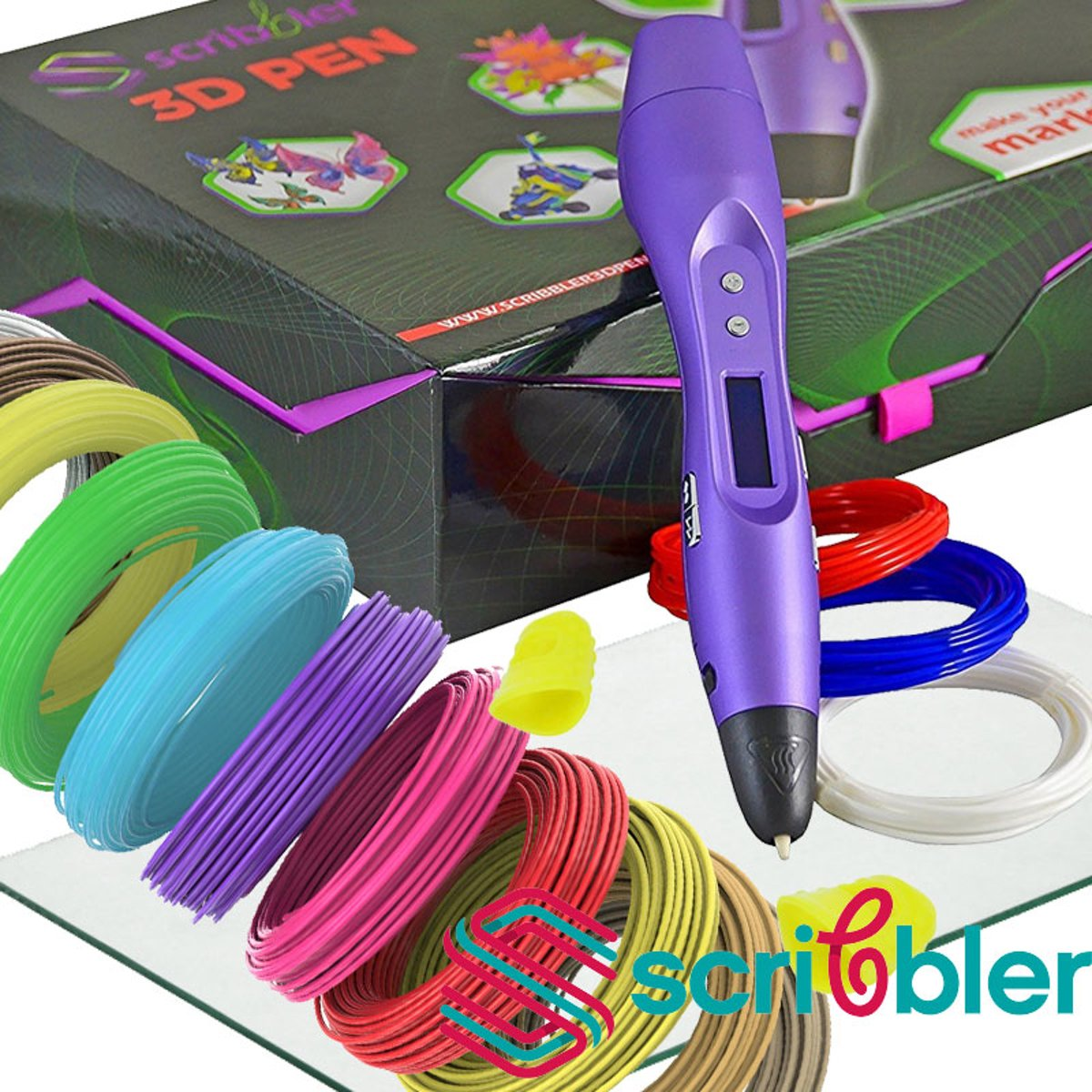 Original Scribbler 3d pen type DUO! 2kleuren of 2x snelheid printen!