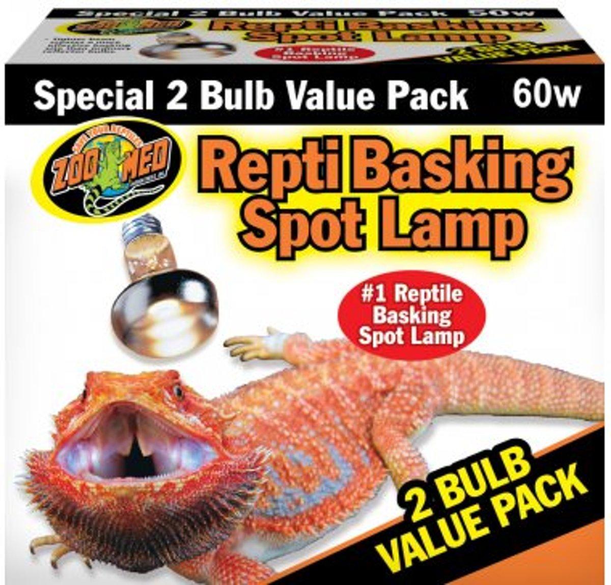 ZM Repti Basking Spot Lamp 60 w. Value Pack