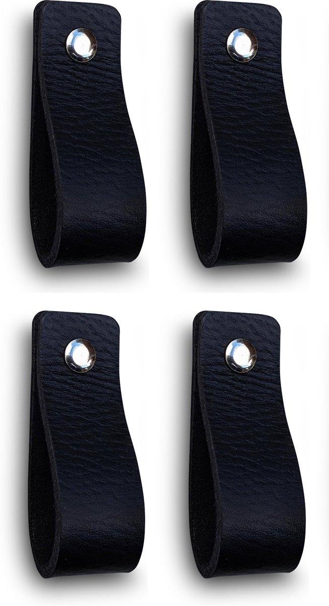 Leren Handgrepen Zwart 4 Stuks 165 X 25 Cm Incl 3 Kleuren Schroeven Per Leren Handgreep