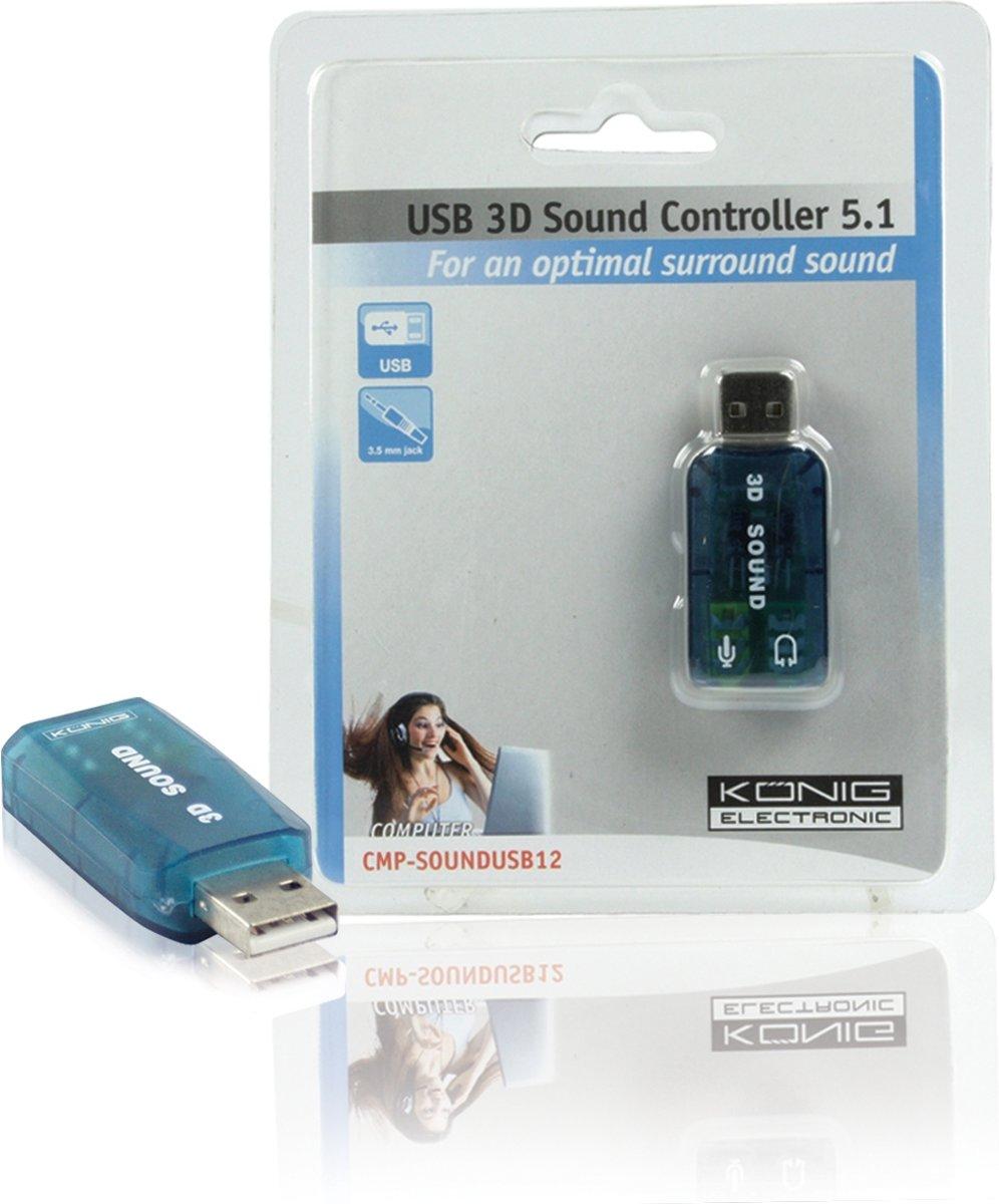 König - USB 2.0  naar Surround Adapter 5.1 kopen