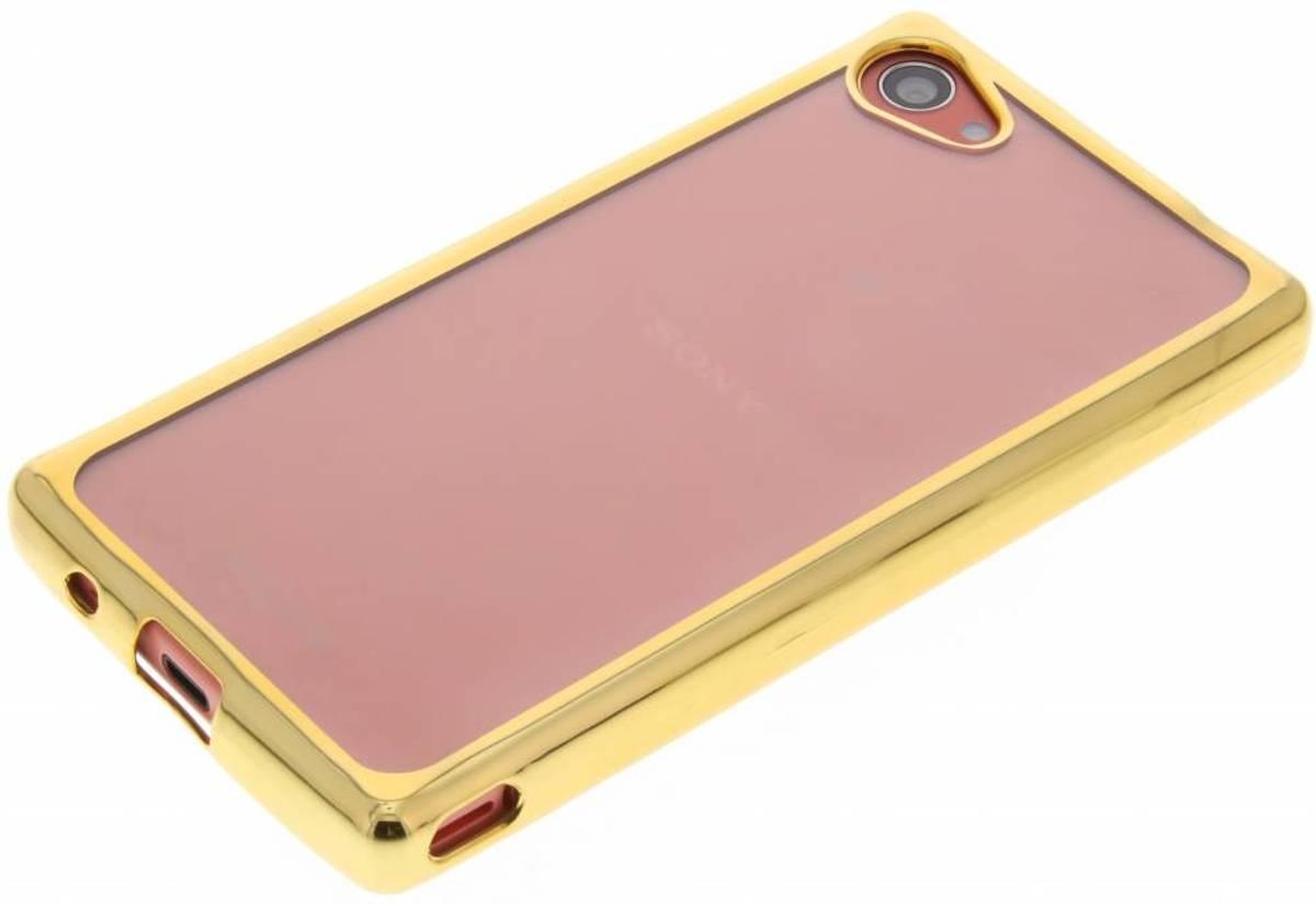 Or Cas De Tpu Avec Le Bord Métallique Pour Sony Xperia Z5 Compact FIYTU