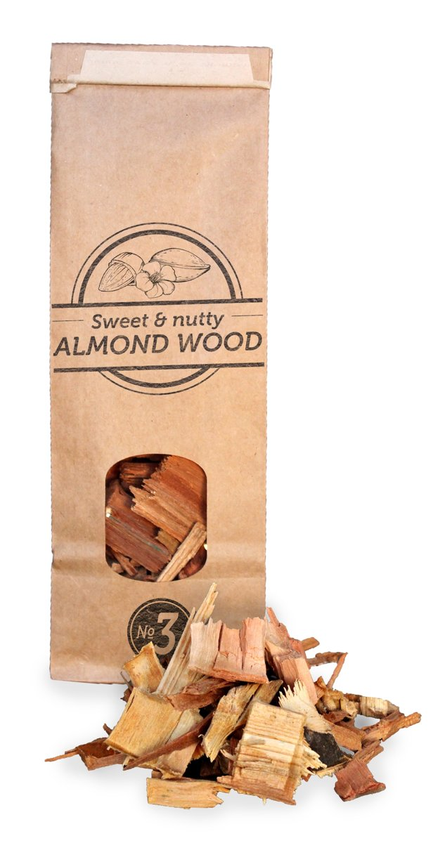 Smokey Olive Wood- Houtsnippers - Amandelhout - 500ml - Chips grote maat ø 2cm-3cm kopen