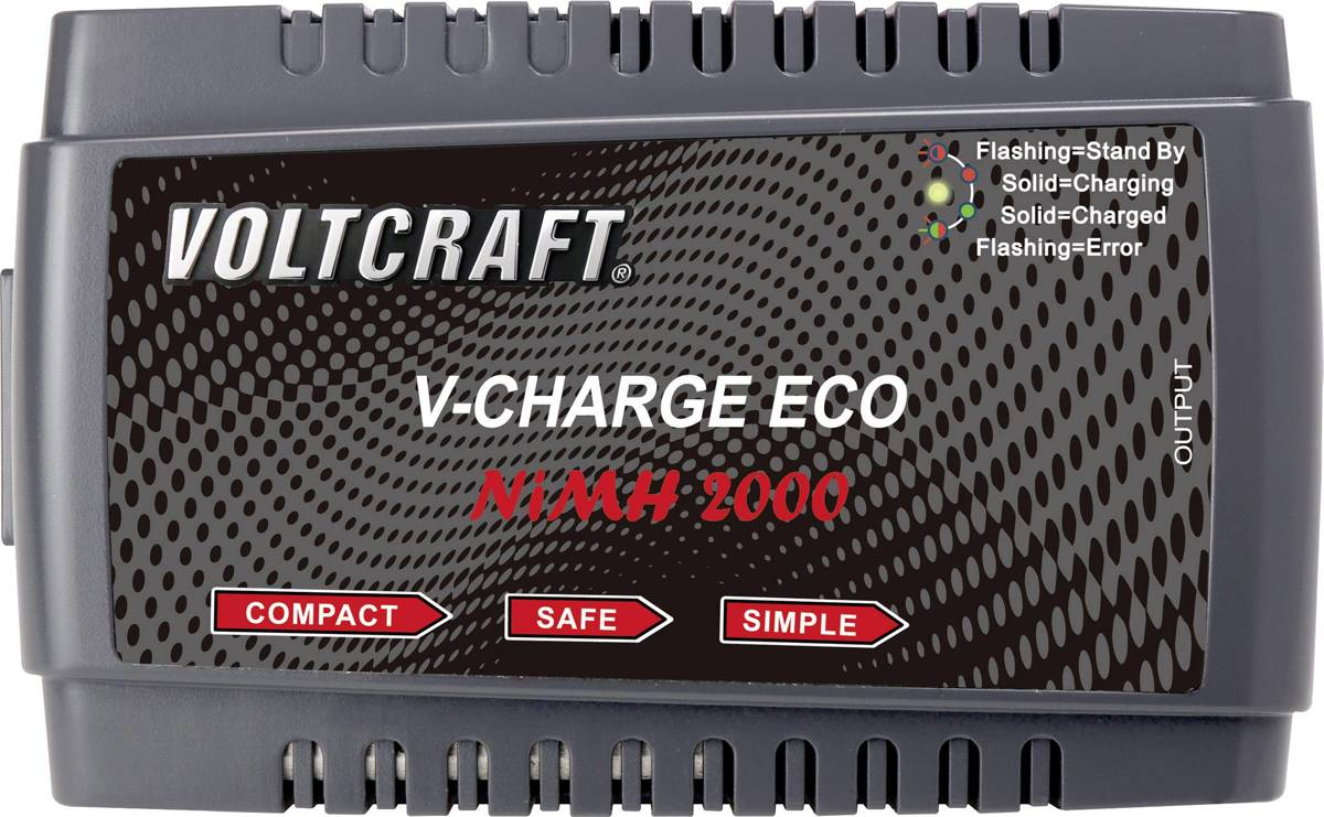 Modelbouw oplader 230 V 2 A VOLTCRAFT V-Charge Eco NiMh 2000 NiMH, NiCd