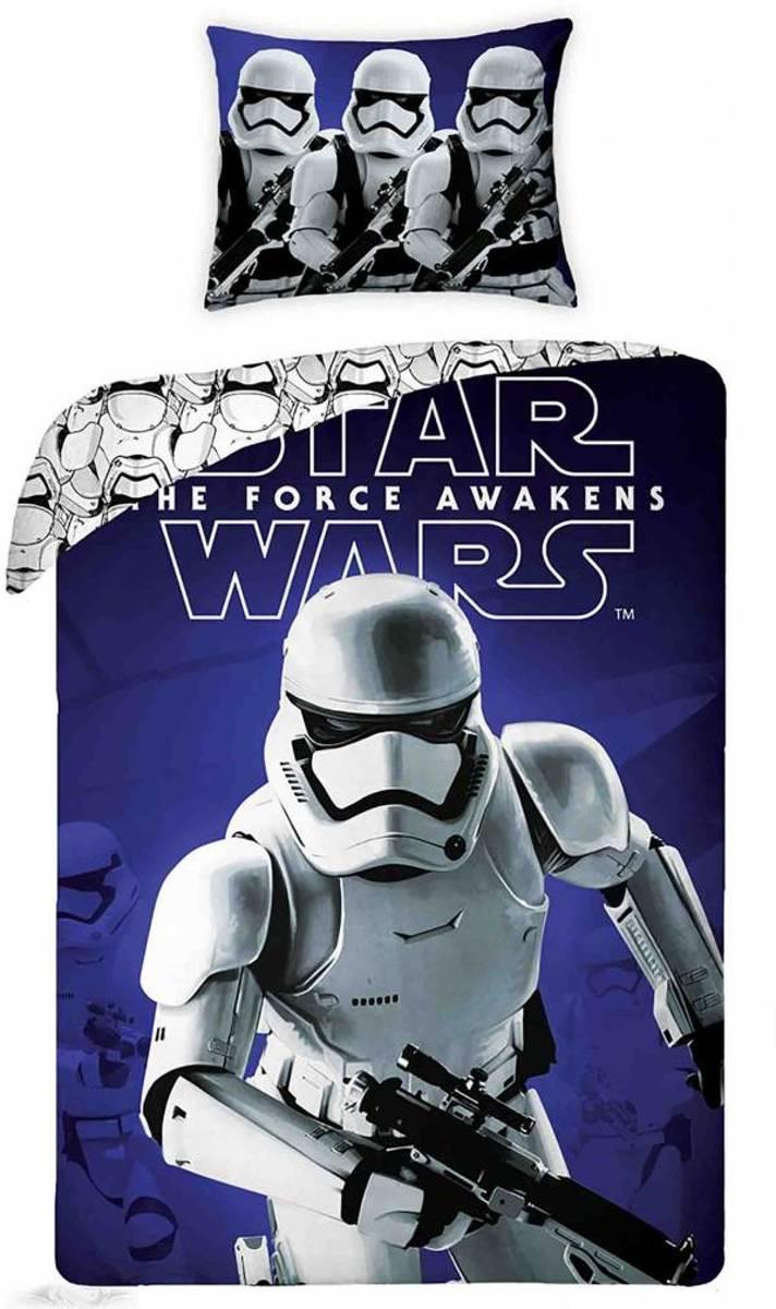 Star wars Trooper Attack - Dekbedovertrek - Eenpersoons - 140 x 200 - Blauw kopen