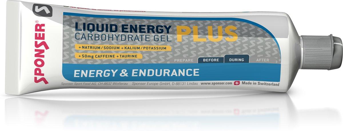 Sponser Liquid Energy Plus (+cafeine) - Energiegel - 20 x 70 gram kopen