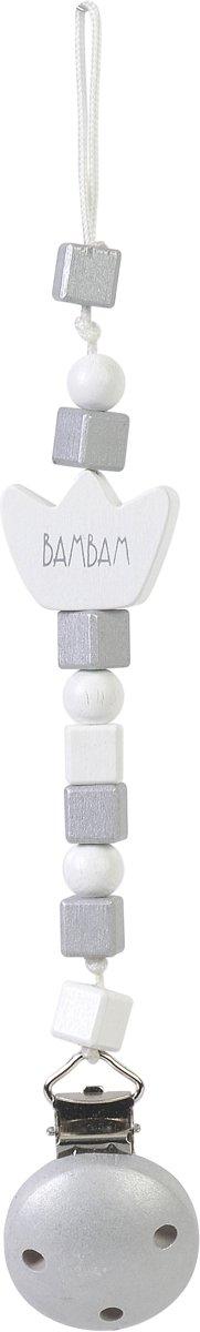 Grey Pacifier Clip Crown