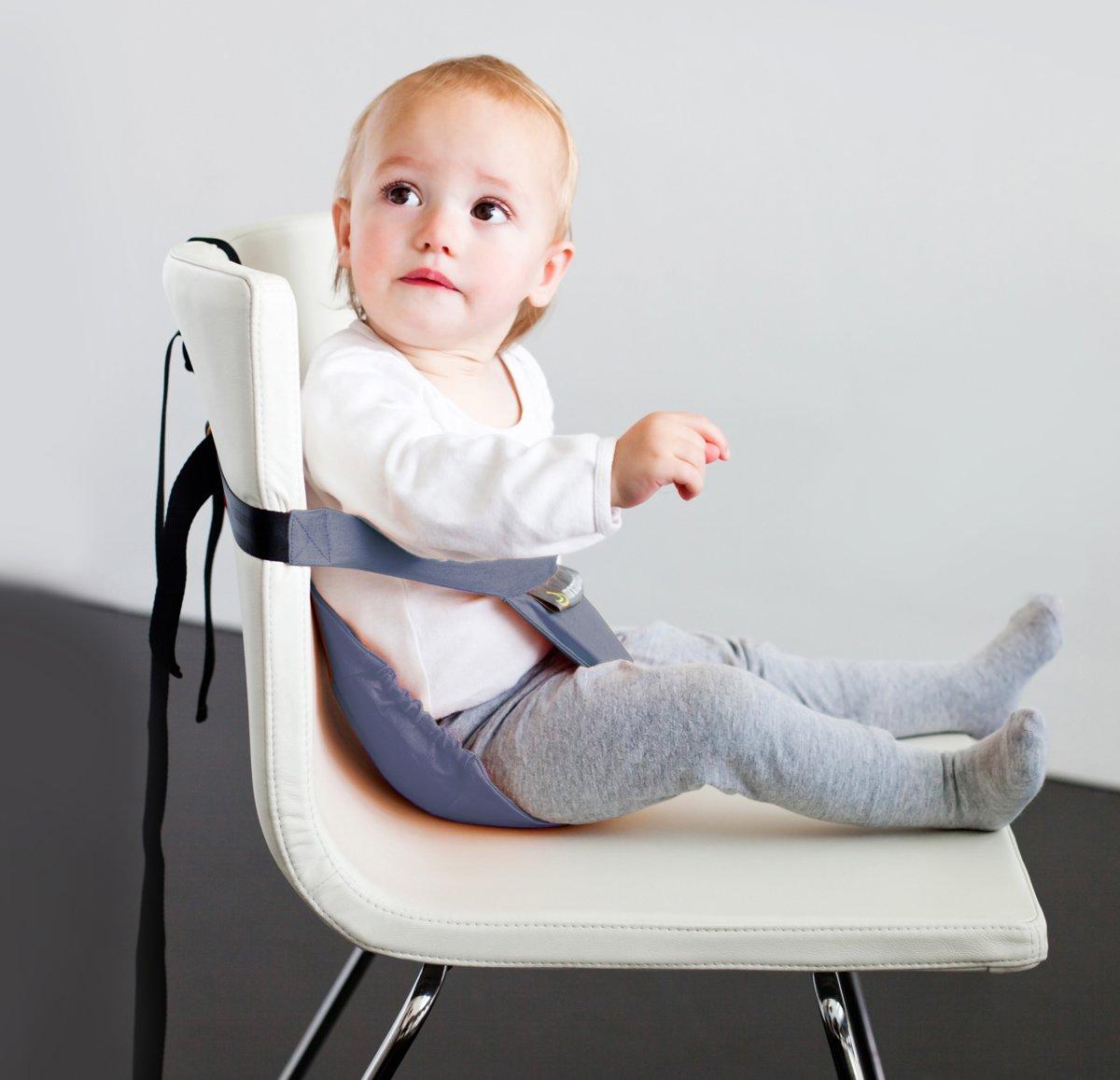 Reis Eetstoel Baby.Minichair Kinderzitje Grijs