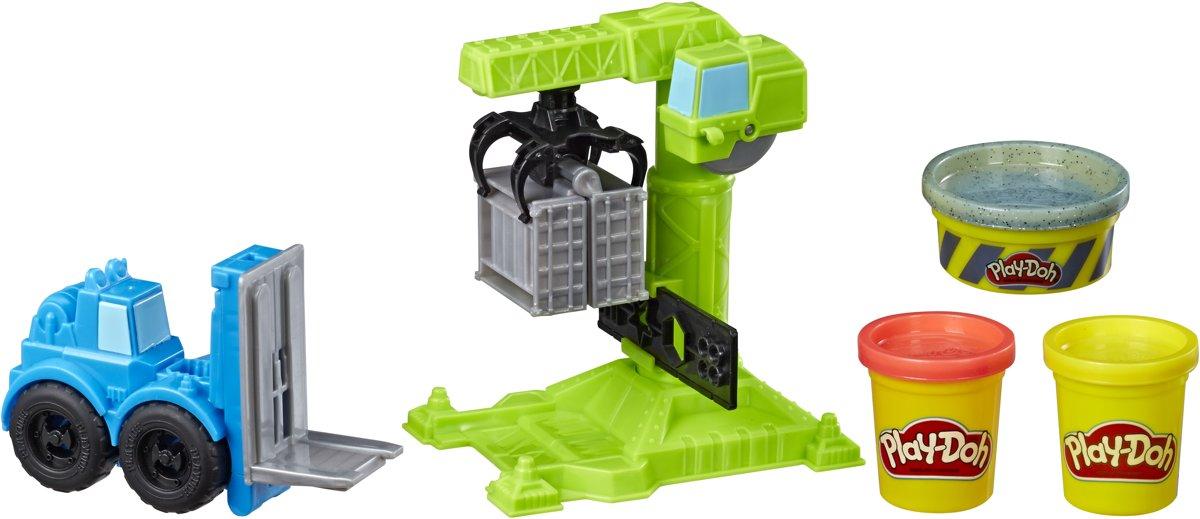 Hasbro Play-Doh Kran und Gabelstapler