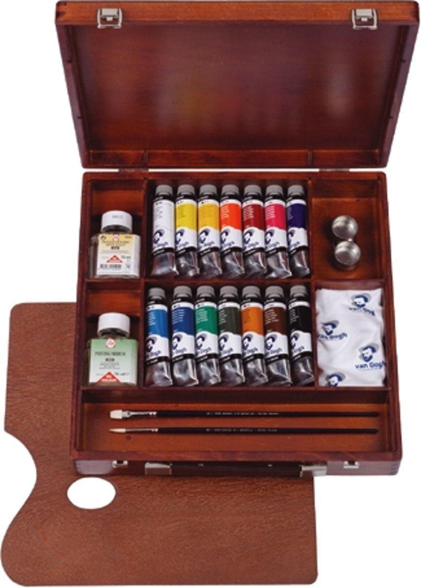 Van Gogh olieverf kist 14 tubes met accessoires - Inspiration kopen