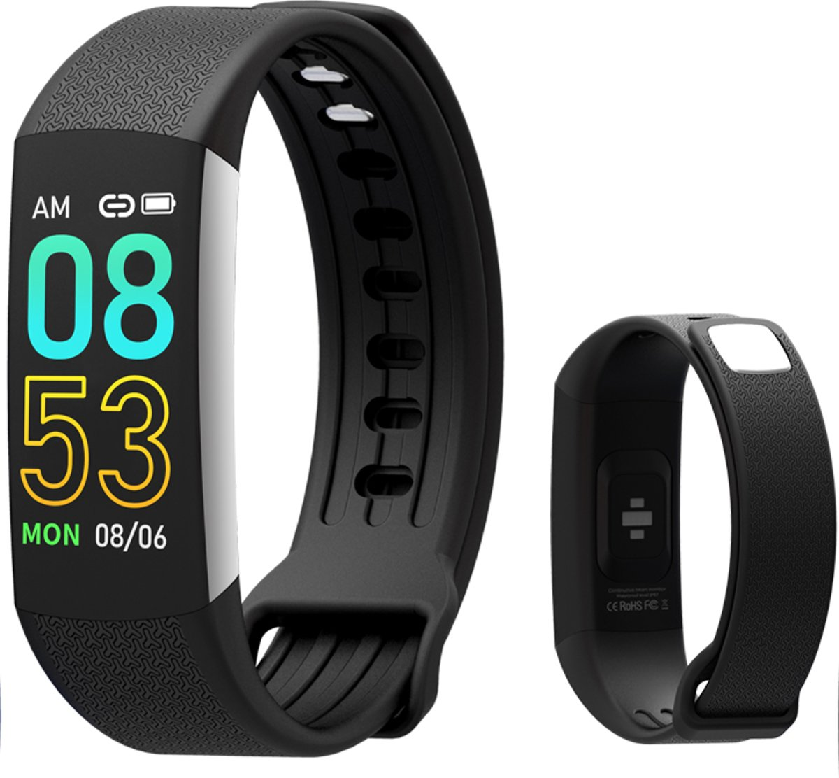 Smartband, Activiteitstracker, Trackband, Gezonde lifestyle, hartslag monitor, alle gezondheidsdetails bijhouden, bluetoothkoppeling, Ideale gift, cadeau kopen