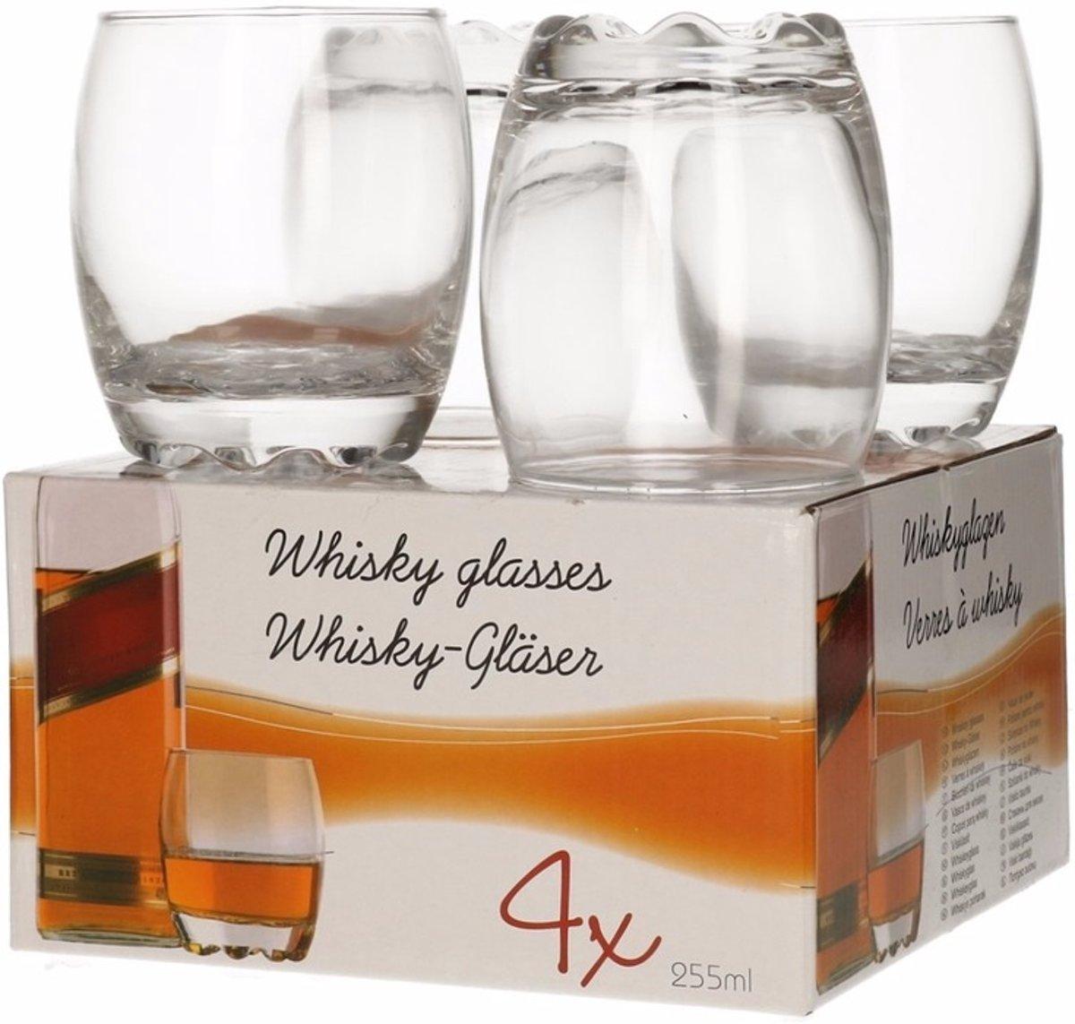 Whisky glazen - 255 ml - 4 stuks kopen