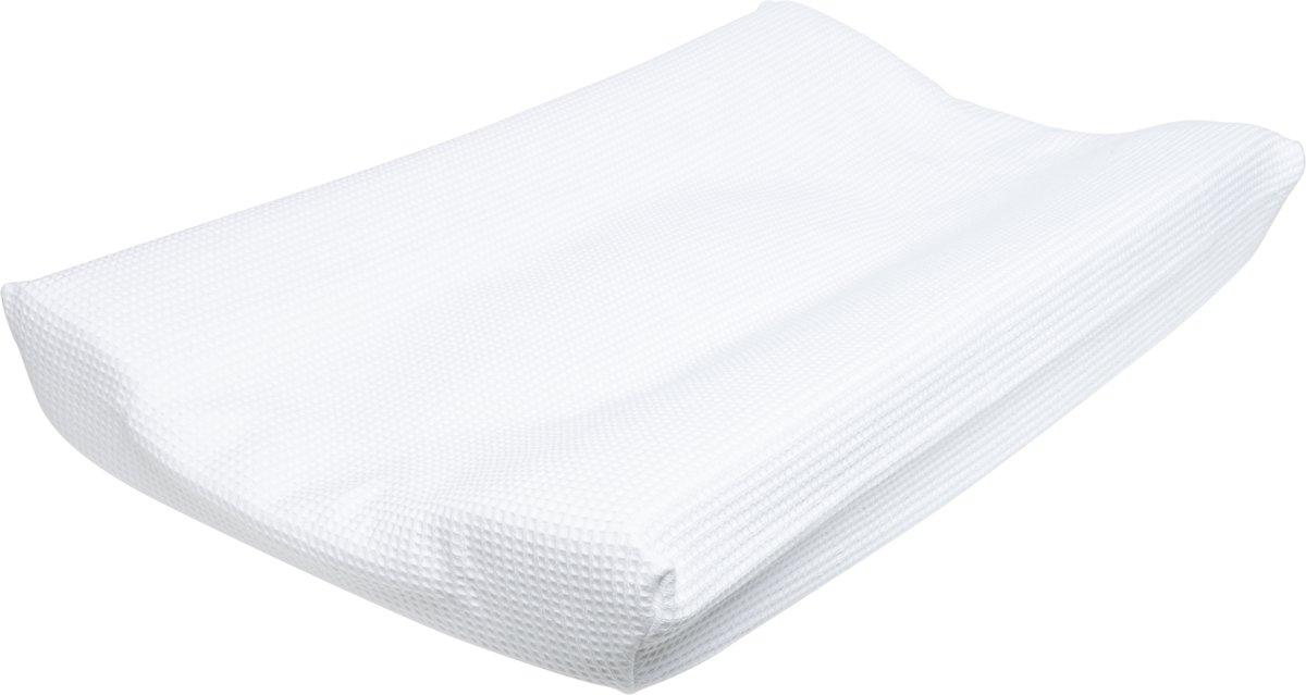 Cottonbaby Wafel - Aankleedkussenhoes Wafel - Wit