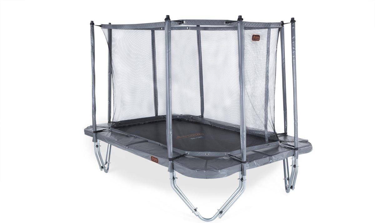 Avyna trampoline PRO-LINE 234 (340x240cm) + net boven + ladder - grijs
