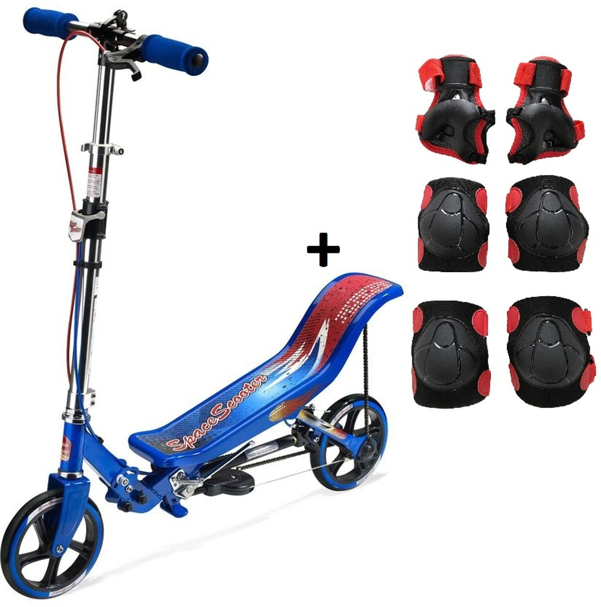 Space Scooter - Blauw - incl. beschermset - Step