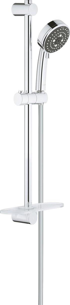 GROHE Vitalio Comfort New III Doucheset - Handdouche ø 10 cm - Glijstang 60 cm - Doucheslang 175 cm - Met zeepschaal kopen