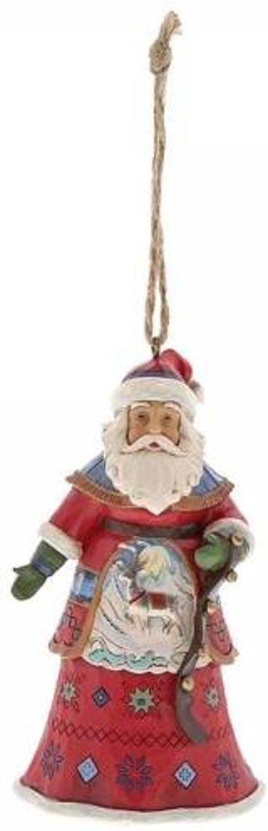 Jim Shore: Lapland Kerstman met Klokken (Opknoping ornament) Beelden & Figuren kopen
