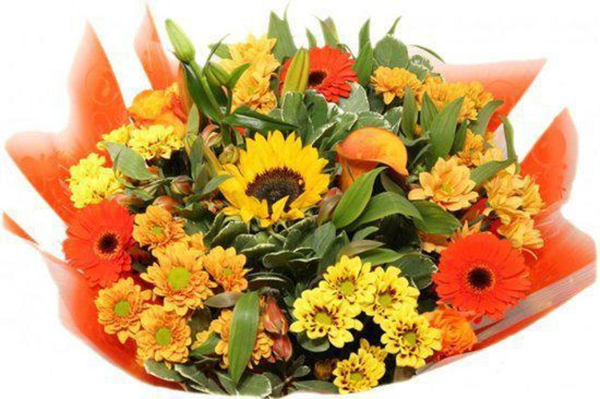 Bloemen boeket XL oranje kopen