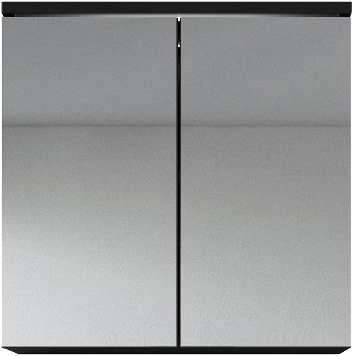 badplaats spiegelkast toledo 600x200x590mm zwart