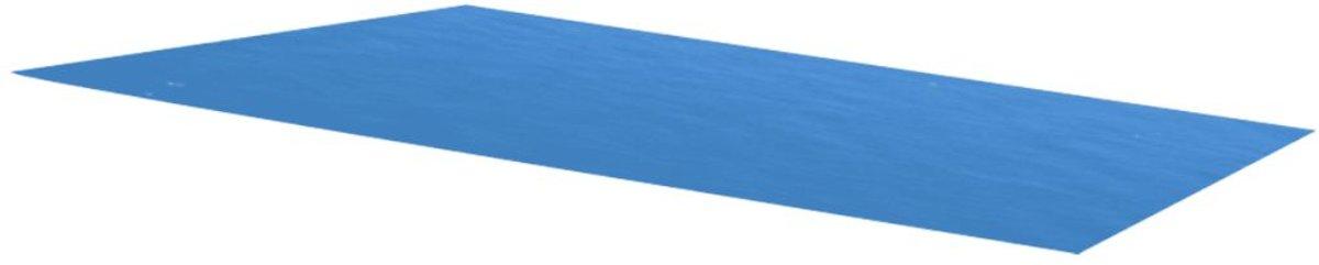 Zwembadzeil rechthoekig 732 x 366 cm PE blauw