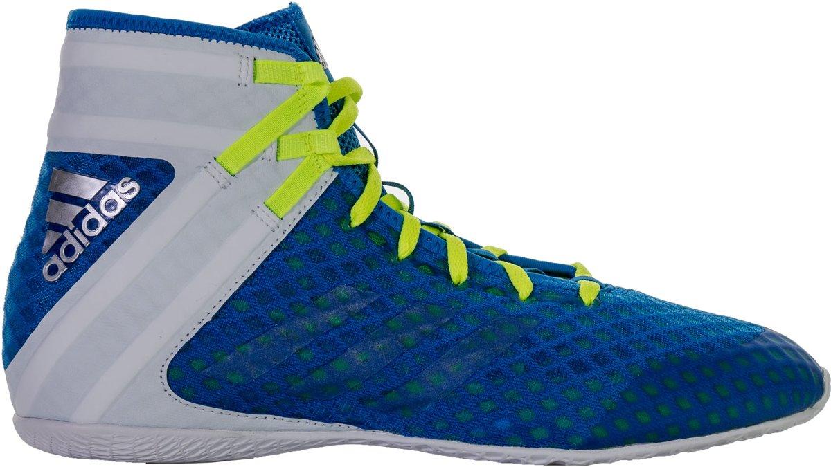 adidas Speedex 16.1 Boksschoenen hebben de volgende eigenschappen: Boksschoenen Maat 40 Mannen blauwwitgeel